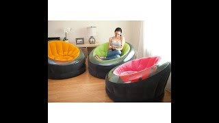 """Intex Inflatable Empire Chair, 44"""" X 43"""" X 27"""", Color May Vary, 1 Pack"""
