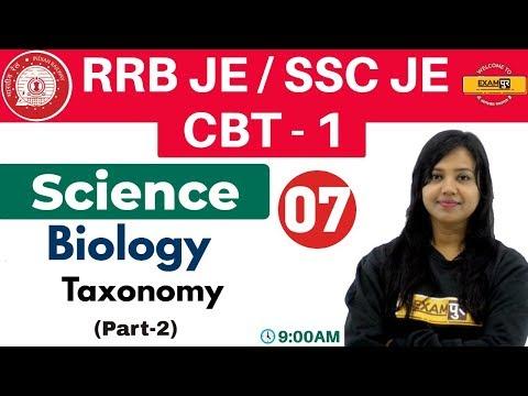 Class 07 ||#RRB JE/SSC JE/CBT - 1 || Science || Biology || By Amrita Ma'am | Taxonomy (Part-2)