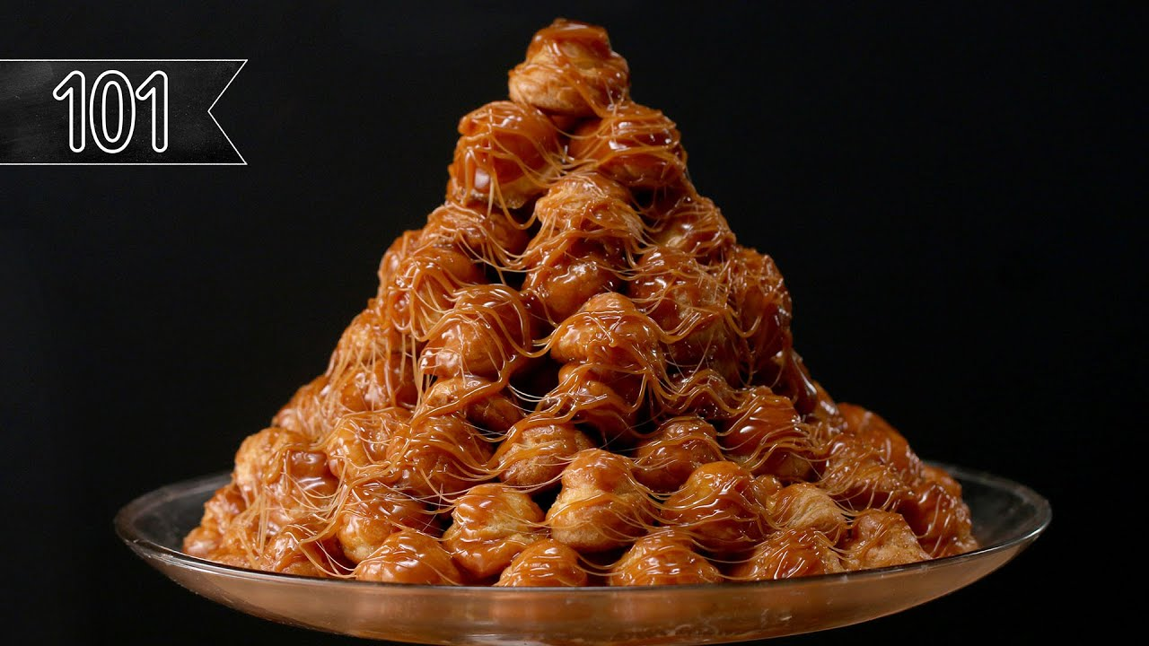 How To Make A Croquembouche (Cream Puff Tower) - YouTube
