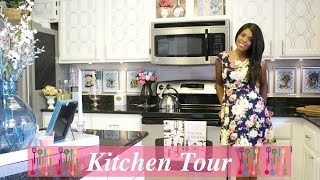 ♥ Glam Home ♥ Beautiful Kitchen Tour pt 1 ♥ Kitchen Overview