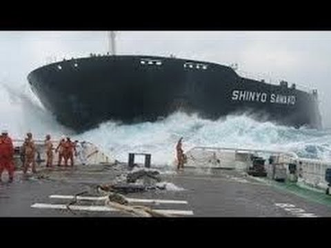 Ship in Huge Storm | Monster Waves | Original Sounds