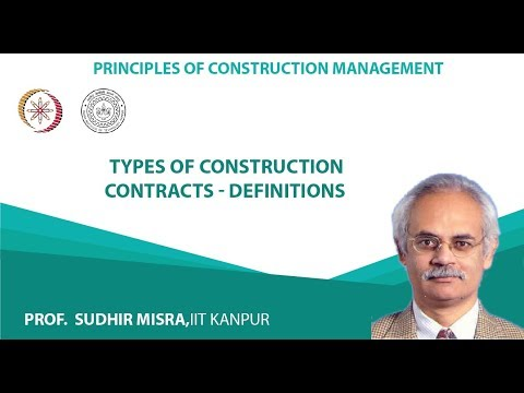 Types of construction contracts - Definitions
