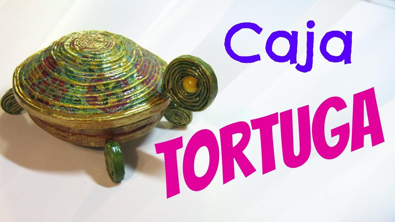 Cajas tortuga hechas con papel peri dico box turtle - Manualidades de papel reciclado ...