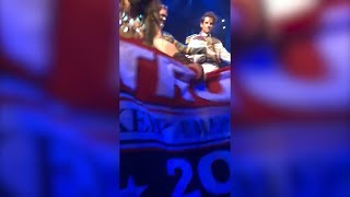 'Frozen' Broadway Actor Grabs Trump Banner From Audience Member During Show