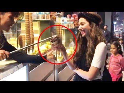 Ranbir Kapoor's Girlfriend Mahira Khan FOOLED By A Ice Cream Seller In Turkey Funny Video