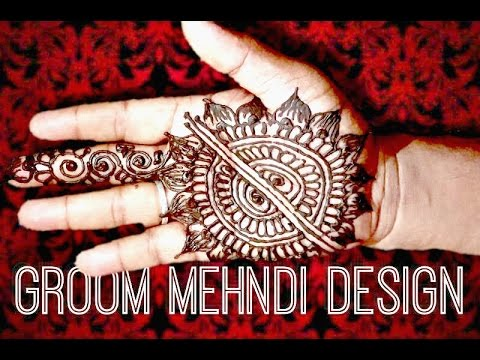 Simple Mehndi For Right Hand : Tutorial:16 simple groom mehndi designs for right hand palm
