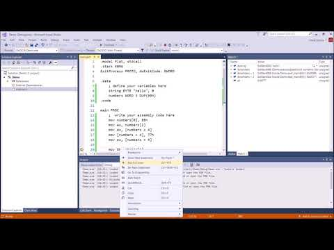MASM Assembly Language Programming Tutorial:  A Closer Look at Arrays