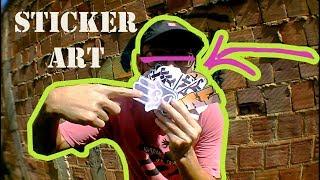 STICKER ART - Fazendo alguns adesivos.