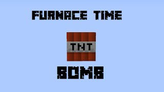 How to make a Furnace Time Bomb in Minecraft!