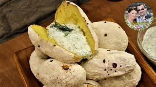 И мангал не нужен ВКУС И ЗАПАХ КАК НА КОСТРЕ Запеченная картошка в духовке Ну очень вкусно