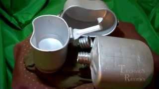 Комплект котелок комбинированный и фляга ВДВ алюминий обзор