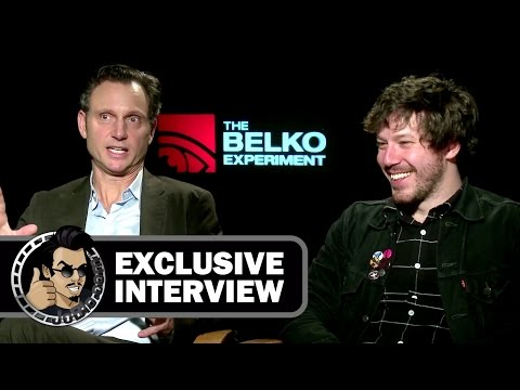 Tony Goldwyn & John Gallagher Jr. Exclusive THE BELKO EXPERIMENT  JoBlo.com 2017