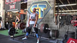 Power Project - WWE Superstar Antonio Cesaro Deadlifts with Mark Bell at Super Training Gym
