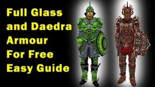 ★Oblivion How/Where to get Daedra and Glass armor for Free★
