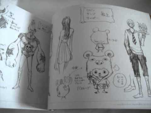 One Piece Strong World Anime Eiichiro Oda Sketch Book