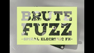 Spiral Electric FX Brute Fuzz Demo & Foo Fighters Bridge Burning Cover