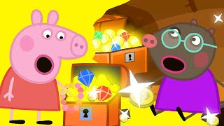 Peppa Pig Official Channel   Peppa and Molly Mole's Buried Treasure Surprise