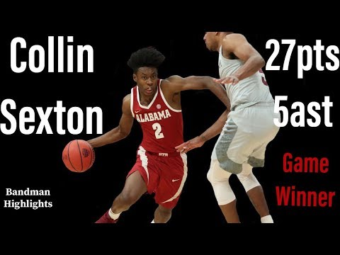 Collin Sexton Alabama vs Texas A&M/3.8.18/Highlights/27pts 5ast & Game winner