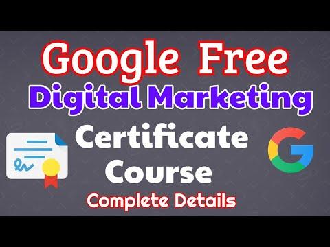 Free Google Course & Certification in Digital Marketing Complete Details   Digital Marketing Telugu