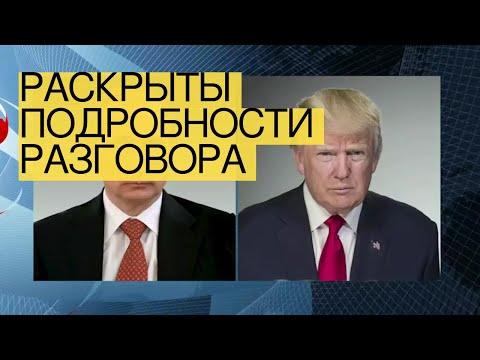 Раскрыты подробности разговора Путина иТрампа