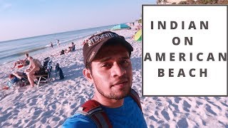 Indian on foreigners beach||Life In U.S.A||Indian Vlogger Prathamesh