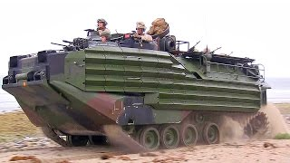 AAV-7A1 Assault Amphibious Vehicles Beach Landing | AiirSource