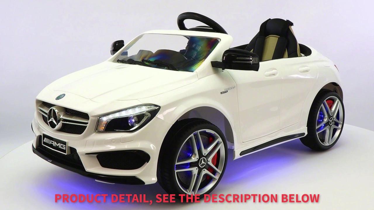 2017 mercedes cla amg 12v power ride on tot car power wheels mercedes benz white youtube 2017 mercedes cla amg 12v power ride on