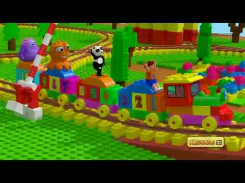 Lego Duplo numbers train | Build and go for a ride | Build with bricks | Kiddiestv