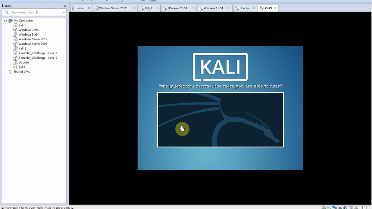 Installing Kali-Linux in a Virtual Machine - Step by Step