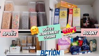 Organisation Et Astuce Cuisine Boites De Rangement Placards Et Frigo Action Gifi Bonnes Affaires Youtube