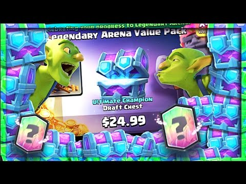 LEGENDARY ARENA CHEST CHALLENGE! • Clash Royale Legendary Cards!