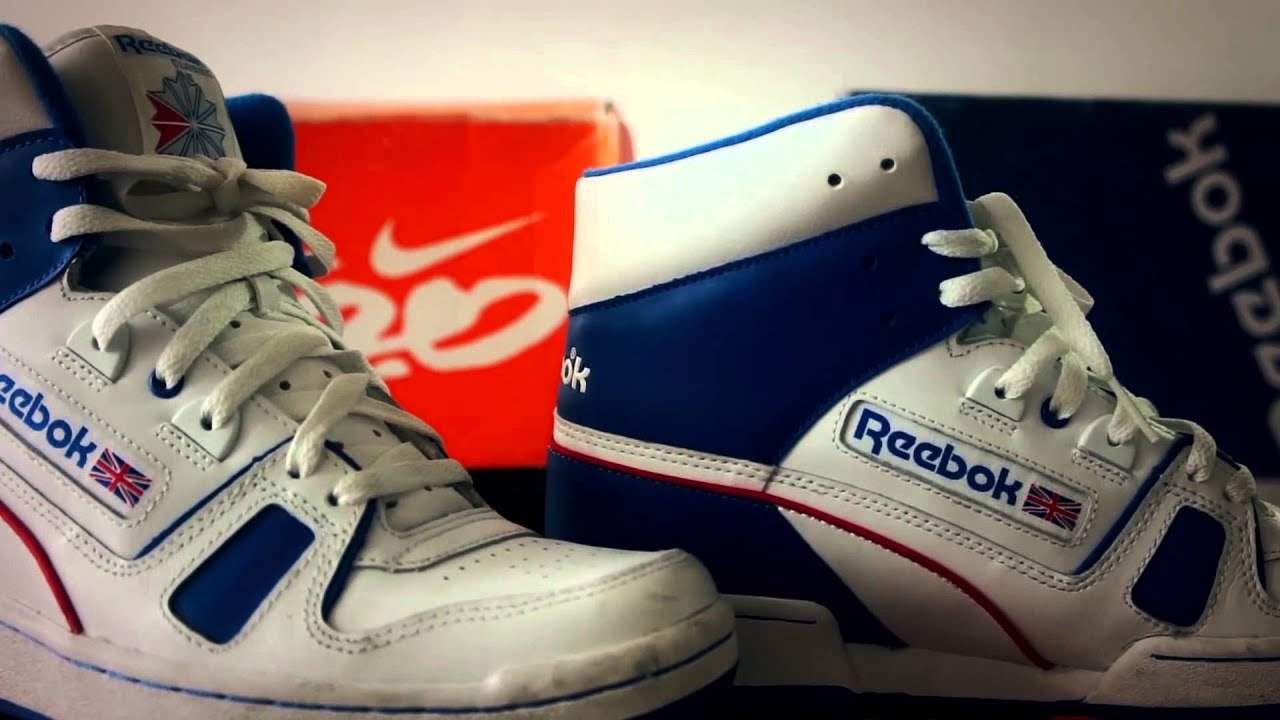 reebok classic bb 6600 white blue high tops