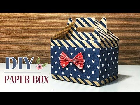 Easy DIY Gift box / Paper box #3 tutorial
