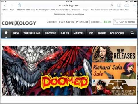 How to buy Comixology Comics on iOS - May 20 2014