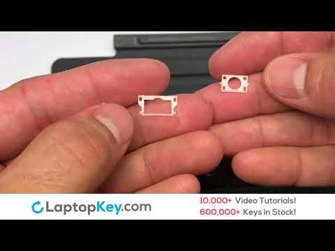 Microsoft Keyboard Keys Repair Installation Surface Pro 4 Type Cover 1725 (Black) QC7-00001 (Black)