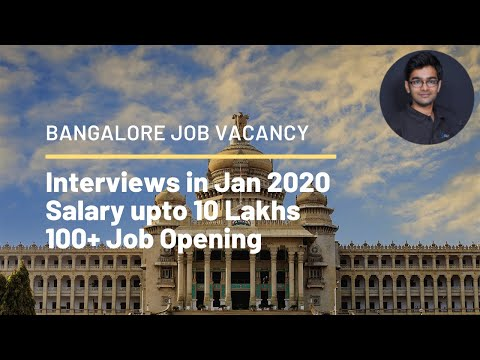 Bangalore Job Vacancy For Freshers Jan 2020 | Bangalore Job Vacancies 2020