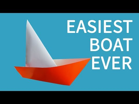 How To Make a Paper Sailboat - The Worlds Easiest Paper Boat