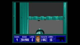 Wolfenstein 3D Playthrough Mission 2 Floor 9(Dr. Schabbs)