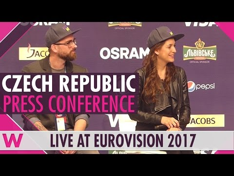 "Czech Republic Press Conference — Martina Barta ""My Turn"" Eurovision 2017 