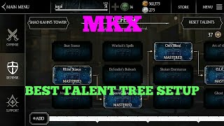 MORTAL KOMBAT X BEST TALENT TREE SETUP (MKX)