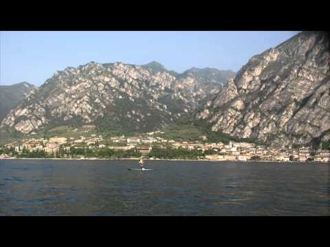 Crossing lake Garda from Riva to Sirmione by Stand Up Paddle board
