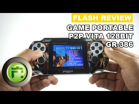Review Portable Gaming Console P2P Vita 128 bit GR-386 - Flash Gadget Store Indonesia