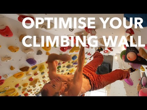 How to optimise your home climbing wall