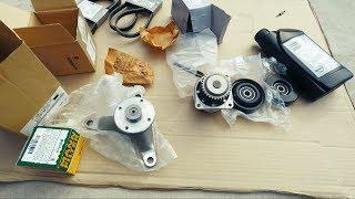 Новые оригинал запчасти для Infiniti FX35. Помпа, все ролики, ремни, дужка лобовой щетки. Новые фары