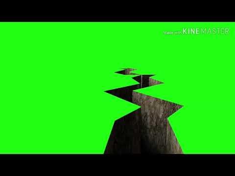Green screen effect of earthquake.