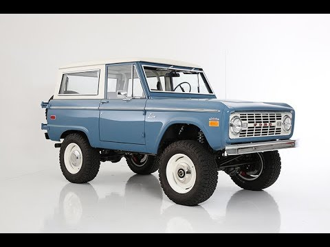 Brand New ICON Model, The Old School BR Restored And Modified Vintage Ford Bronco BR FINAL DELIVERY
