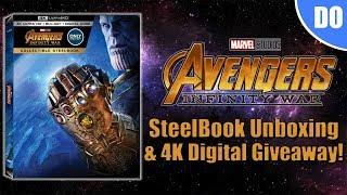 Avengers Infinity War 4K Blu-ray SteelBook Unboxing & 4K Digital Giveaway   Best Buy Exclusive
