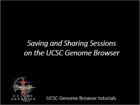 Genome Browser Session Help