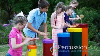 Rainbow Sambas Outdoor Drums   Outdoor Musical Instruments