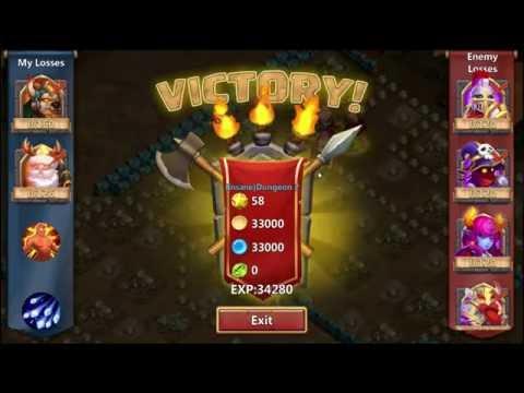 Castle Clash / Schloss Konflikt By Lakai85 - Insane Dungeon 2-1 3 Flame